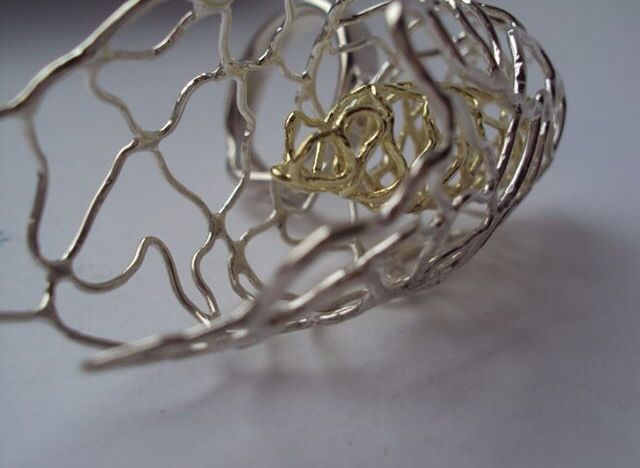 Fragile Collection Silver and 18ct gold ring