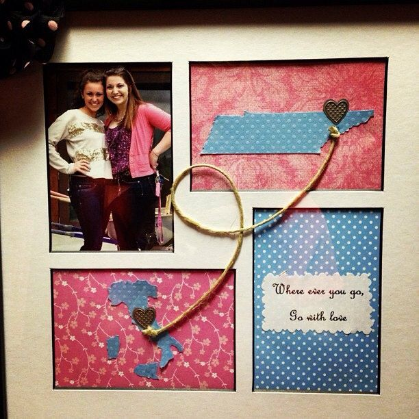 Going Away Framed Gift by DarlingDistance on Etsy, $30.00