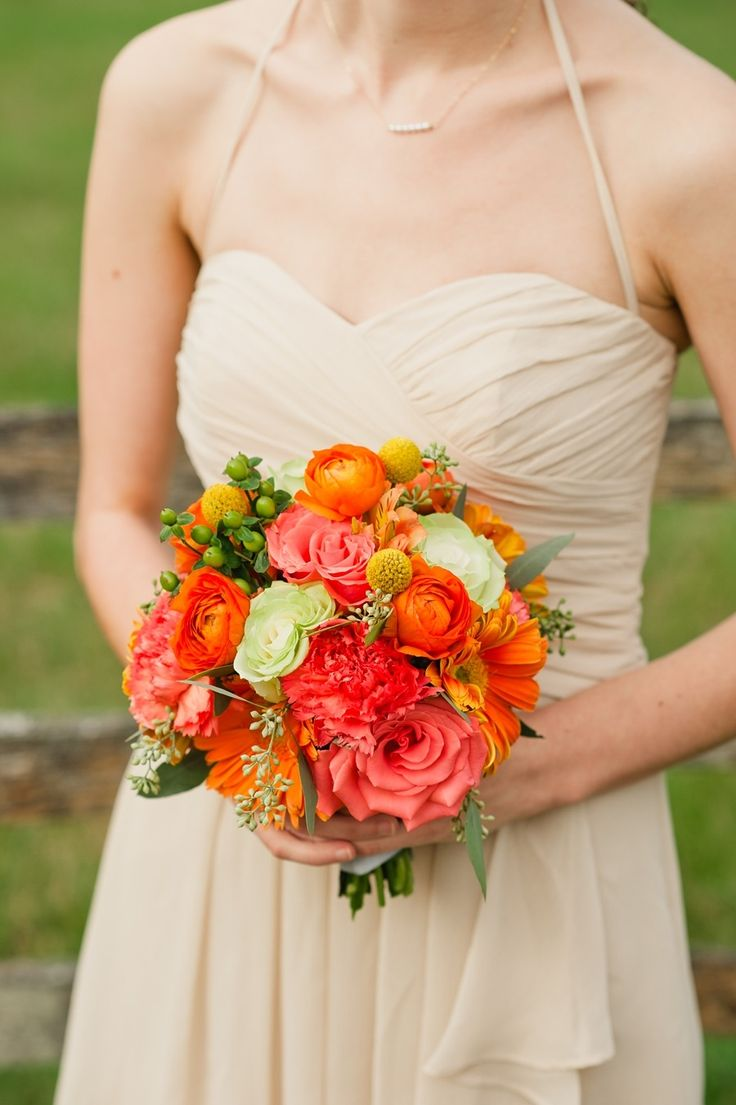 We love pops of color. Photography: Faith Teasley - www.faithteasley.com  Read More: http://www.stylemepretty.com/2014/08/06/colorful-diy-wedding-2/