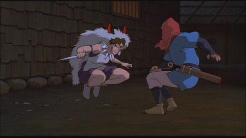 Ashitaka and San - princess-mononoke Screencap