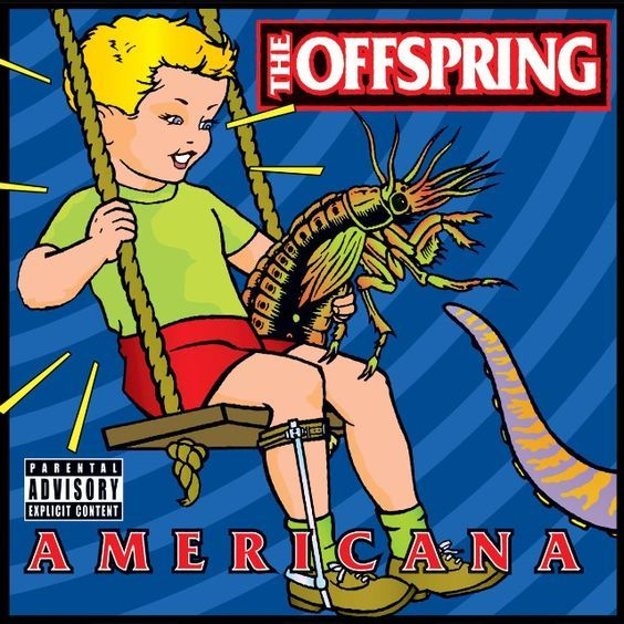 The Offspring - Americana - 1998 Original album cover Dream Theater, The Offspring Pretty Fly, Pink Floyd, Green Day Albums, Poster Wall, Poster Prints, Worst Album Covers, Bad Album, Les Gifs