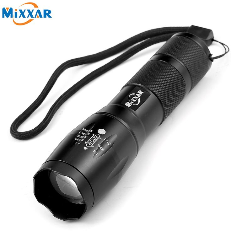 ZK58 Portable LED Flashlight LED Torch Zoomable Flashlight 4000LM E17 CREE XM-L T6 LED 5 Mode Light For 18650 or 3xAAA Battery //Price: $9.95 & FREE Shipping //   #hashtag4    #Shop #Sneakers