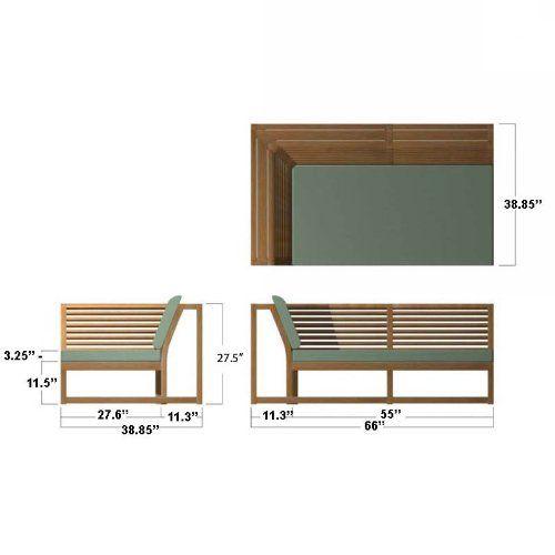 AmazonSmile - Maya Designer Teak Sectional Furniture - Sectional Sofas