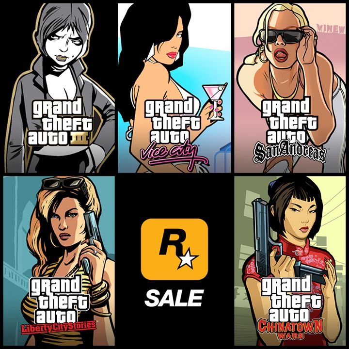 Grand Theft Auto III, Grand Theft Auto: Vice City, Grand Theft Auto: San Andreas, Grand Theft Auto: Chinatown Wars and Grand Theft Auto: Liberty City Stories iOS are all on sale at the App Store, now through Oct 11th: http://rsg.ms/7ac4a70 #tablet #smartphone #android #windows #3dprinting #gaming