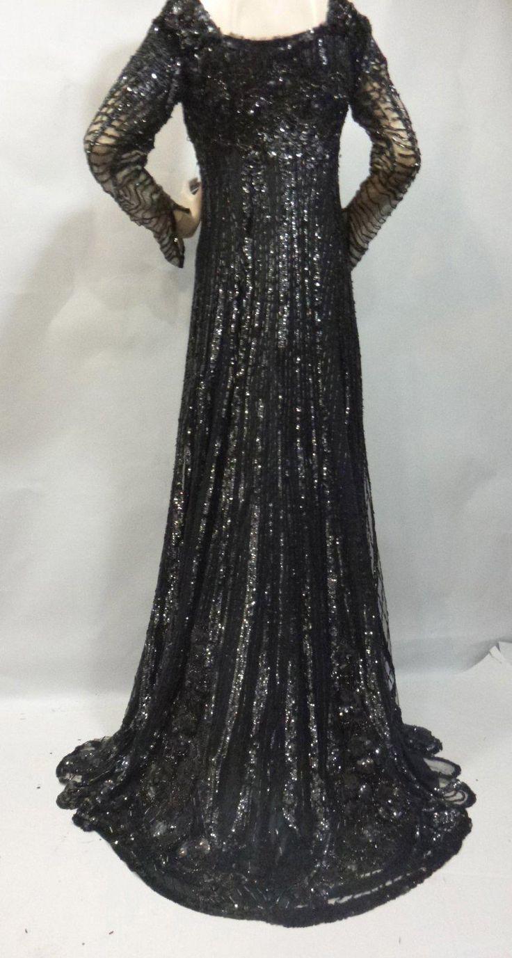 Robe de soirée griffée VIGNON, fin XIXème siècle. Longue robe en ...
