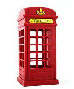 DAYAN Cabine Téléphonique rouge Londres Vintage Retro Conçu USB charge LED Lampe Touch Sensor Table Veilleuse