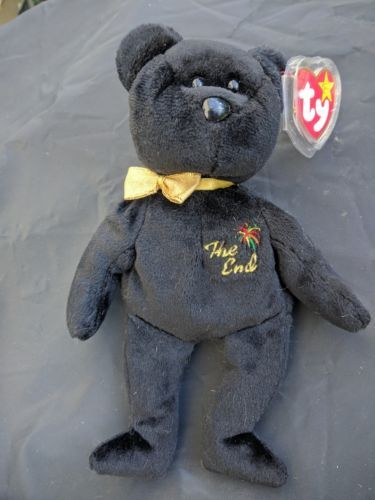 Retired 440  Ty Beanie Baby The End Rare Black Bear With Tush Tag Error  Free Shipping -  BUY IT NOW ONLY   14.99 on  eBay  retired  beanie  black   error   ... b84e8ed68