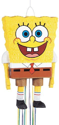 24 Sponge Bob Birthday Party Pull String Pinata 66084 - List price: $24.99 Price: $14.52 Saving: $10.47 (42%)