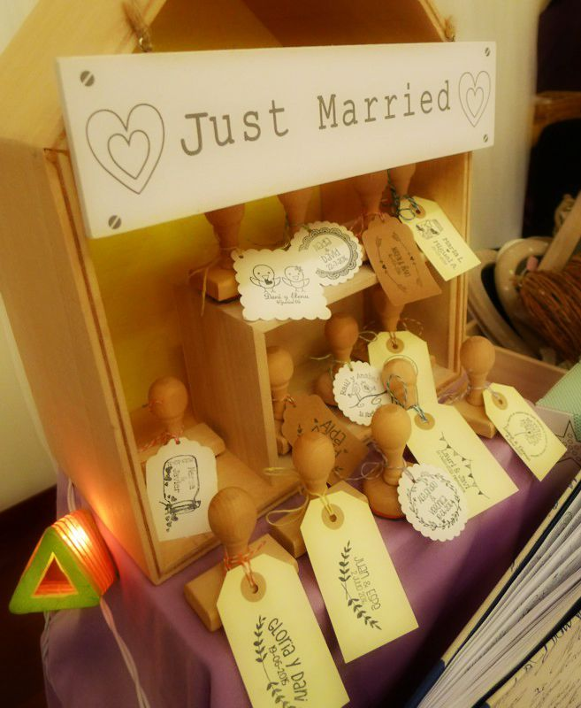 Stand en Just Married Market 20/09/2015 sellos personalizados de boda artesanales
