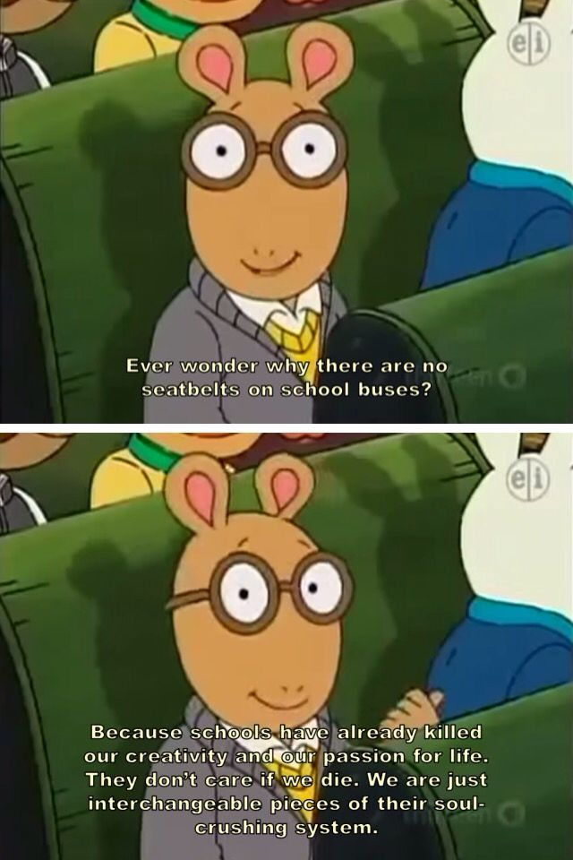 when arthur gets too real