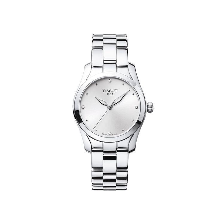 Γυναικείο ελβετικό quartz ρολόι του οίκου TISSOT, από τη συλλογή T-LADY, μοντέλο T-WAVE II T112.210.11.036.00. Ένα θηλυκό ρολόι, με ασημί καντράν & διαμάντια με ατσάλινο μπρασελέ. Μικρό γυναικείο ρολόι TISSOT T-WAVE II T1122101103600 σε ασημί καντράν, μπριγιαν και μπρασελέ | Ρολόγια TISSOT στο Χαλάνδρι ΤΣΑΛΔΑΡΗΣ #tissot #waveII #διαμαντια
