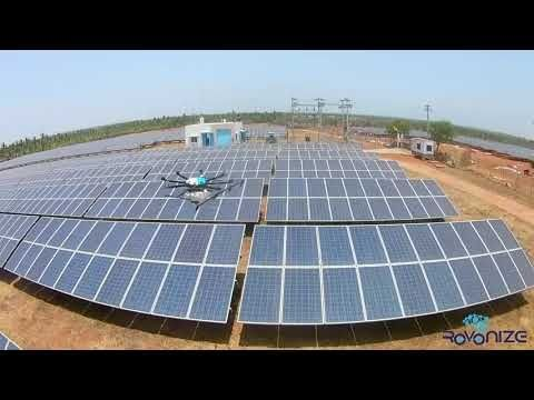 Drones To Clean Solar Panels In India Drones Solar Solar Panels Drone
