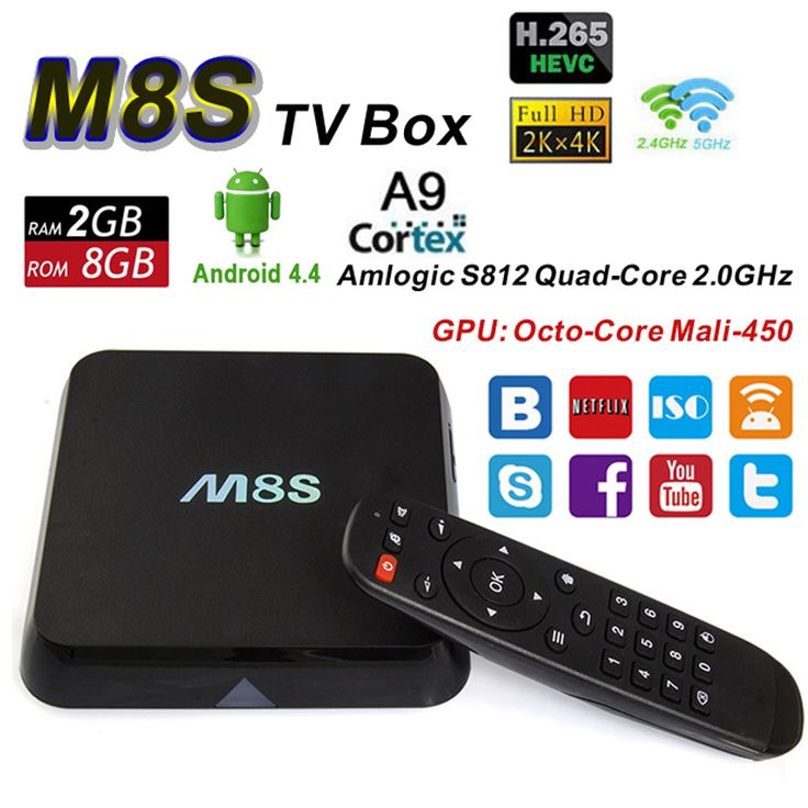 >> Click to Buy << Android TV Box M8S Amlogic S812 Quad Core 2G 8G Wifi BT 4.0 XBMC H.265 4K 2K Smart Media Player Google IPTV VS M8 Set Top Box #Affiliate