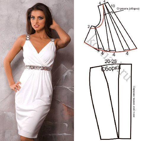 Платье в греческом стиле - выкройка от А. Корфиати Эффектное платье в греческом стиле будет хитом вашего гардероба! Обязательно сшейте это потрясающее платье! Выкройка платья и подробные инструкции бесплатно