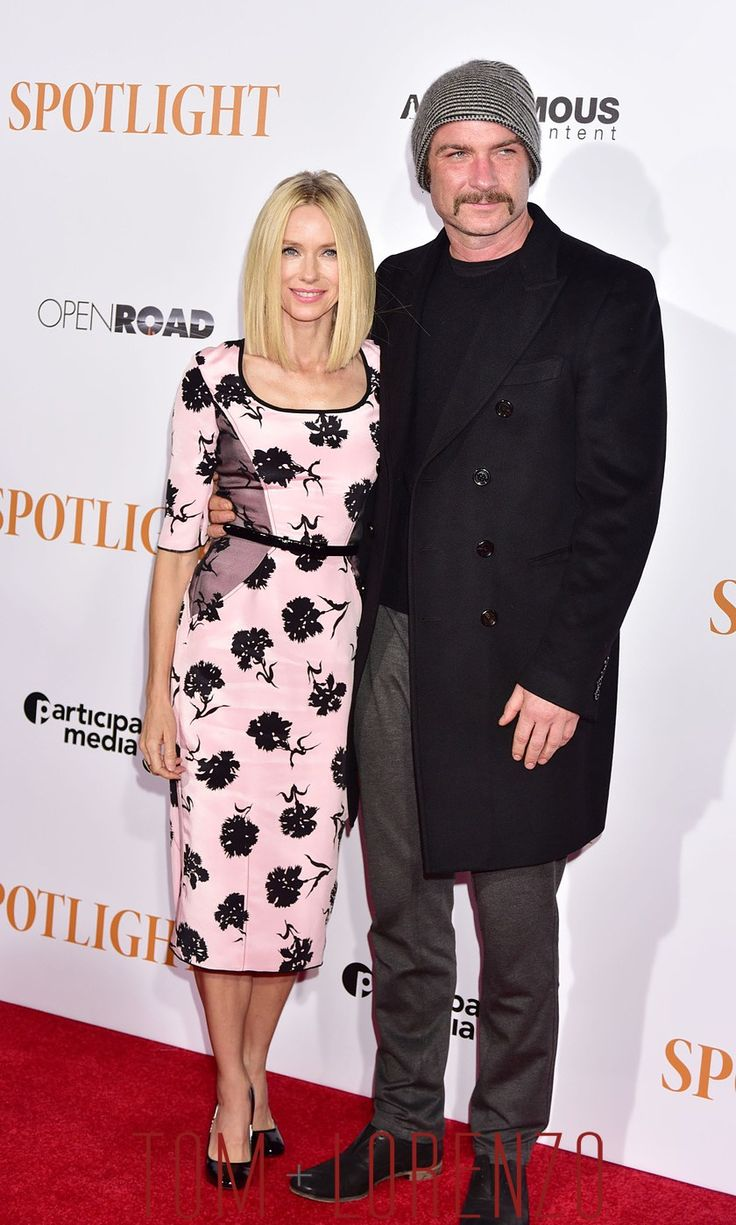 "Naomi Watts and Liev Schreiber at the ""Spotlight"" New York Premiere"