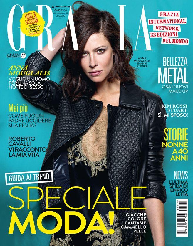 ANNA MOUGLALIS on Grazia Italia cover, hair & makeup by Massimo Serini, september 2013