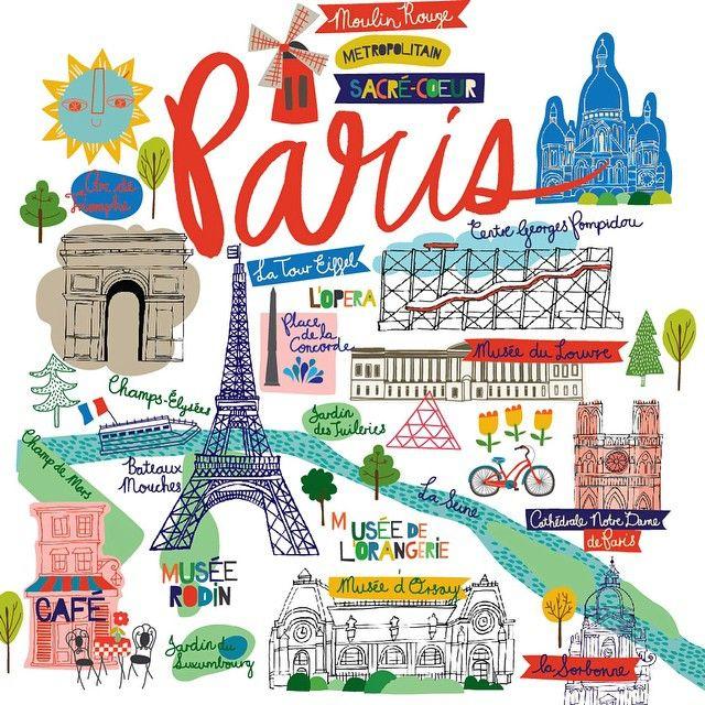 Map of Paris. Part of our @ecojot city/world collection. #paris #redandblue #JeSuisCharlie