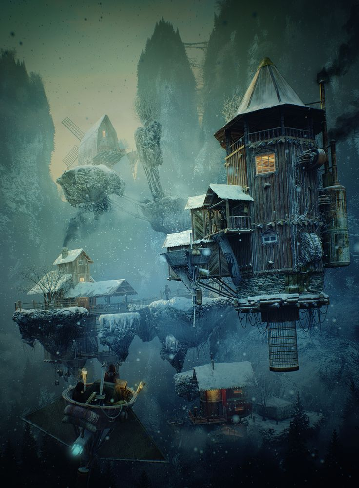 Hunters Village by Alexandr Melentiev | Fantasy | 3D | CGSociety  http://alexandr-m.cgsociety.org/art/wooden-3ds-world-max-photoshop-hunters-after-effects-alexandr-melentiev-village-fantasy-3d-1260109