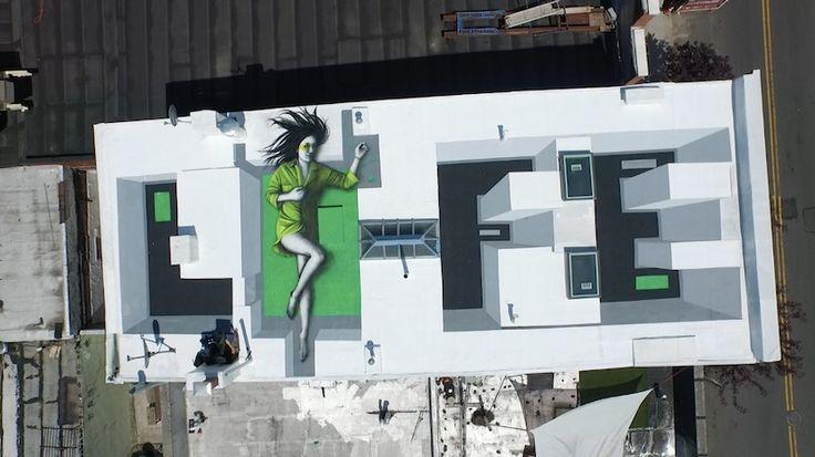 Park_Life - new piece - Rooftop Mural by Fin DAC Dean Zeus Colman in Bushwick, New York 2015
