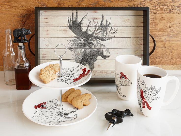 Notre nouvelle collection Canadiana pour la cuisine est inspirée de la beauté de la nature et de la faune En magasin dès maintenant! #vaisselle #EnsembleDeVaisselle #DécorPourLaCuisine #cuisiner #automne