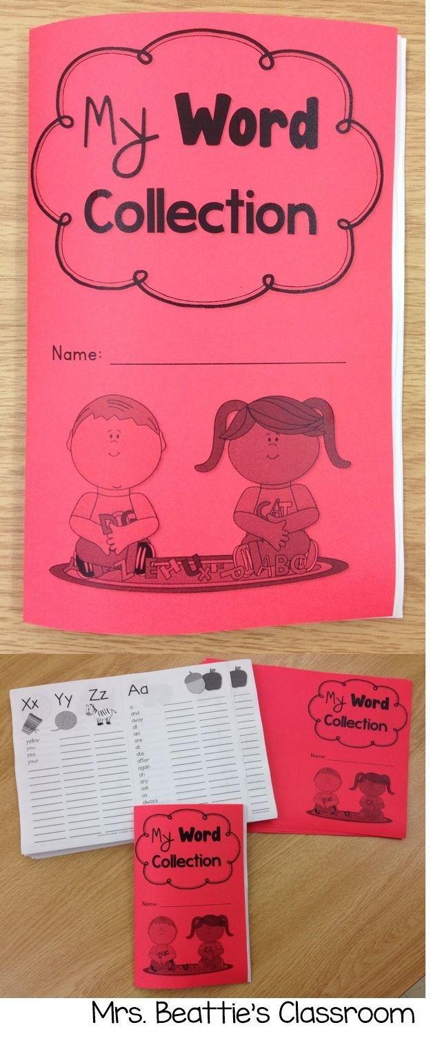 My Word Collection - A Personal Word Book & Dictionary For Primary Students from Mrs. Beattie's Classroom. The Word Collection booklet contains all of the Dolch words from the pre-primer to third grade lists, as well as a separate page of number words.