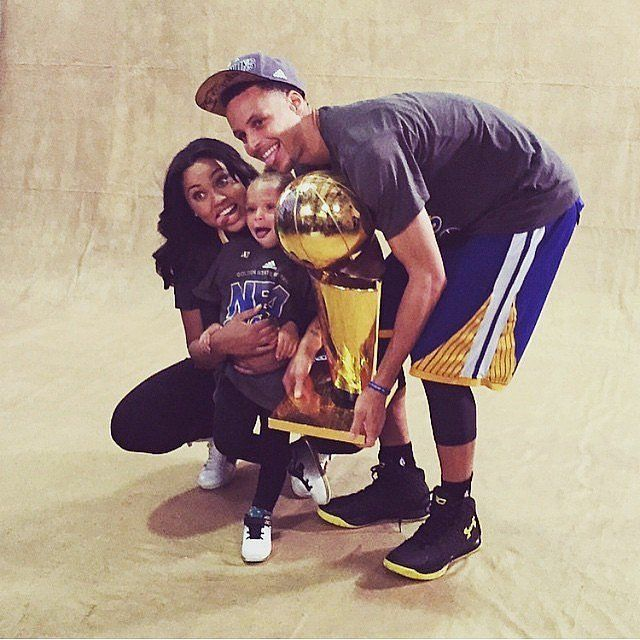 Stephen Curry With His Wife, Daughter After NBA Finals Win | POPSUGAR Celebrity