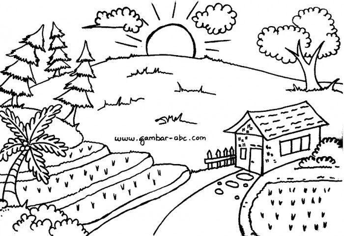 30 Lukisan Pemandangan Hitam Putih Simple 50 Gambar Sketsa Lukisan Pemandangan Alam Hitam Putih Yang Download 50 Lukisa Di 2020 Sketsa Kritik Seni Cara Menggambar