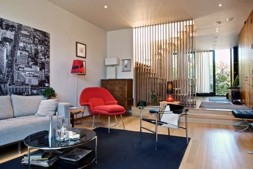 biombo madera  modern living room by Andrew Snow Photography
