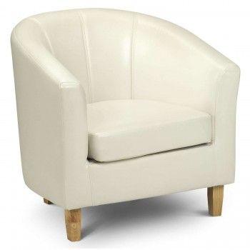 Tub Chair - King Louis Faux Leather - Cream