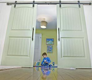 Beth Stedry Decided To Use Wooden Barn Doors For The Bedroom Of Her Son Ben  Stedry
