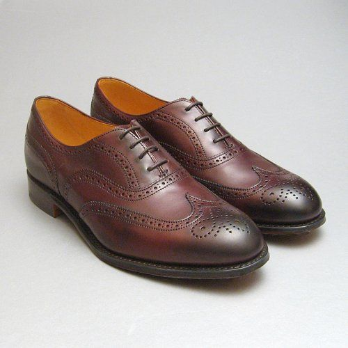 Ladies Cheaney Brogues Style Maisie in Burnished Burgundy Leather