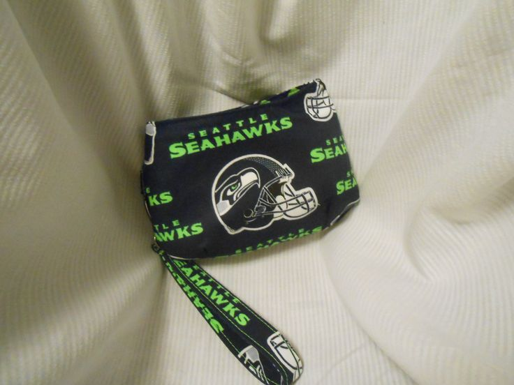 Seattle Football Wristlet- Stadium Regulation Size, Small Purse, Seahawks - pinned by pin4etsy.com