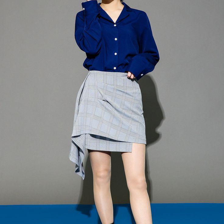 ラップスタイルラッフルチェックミニスカート キュートなラップスタイルのミニスカートが登場! ラップスタイルのスカートとカジュアルなチェック柄がポイントになっています☆ サイドのアンバランスなラッフルディテールでスタイルアップ効果あり↑ 女性らしいラップ風デザインで大人レディなコーディネートが完成☆ #maysome #uniquestyle #ootd #fashion #ファッション #韓国ファッション #フェミニンコーデ #大人可愛い #モデル #韓国通販 #今日のコーデ #koreafashion #シンプルコーデ #カジュアルコーデ #オルチャンファッション #dailyfashion #dailylook