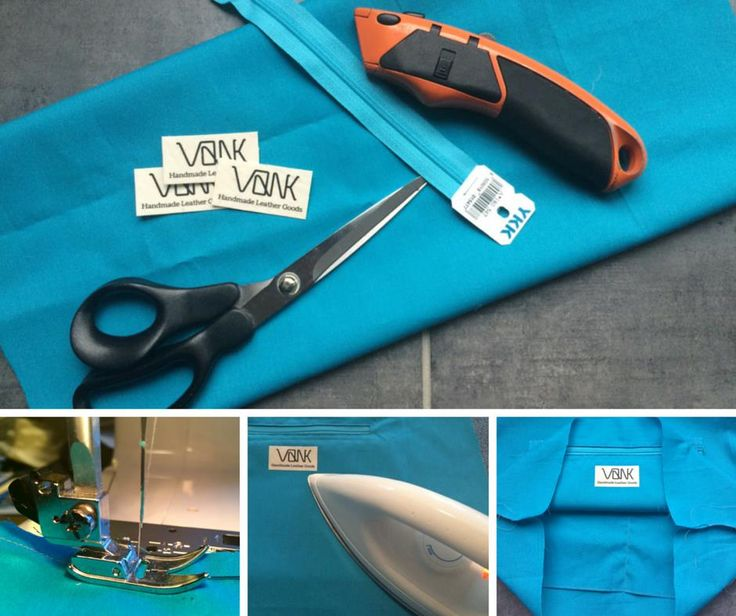 Custom made Oeko Tex ecological cotton lining, made on request for the black leather tote bag, by Vank.