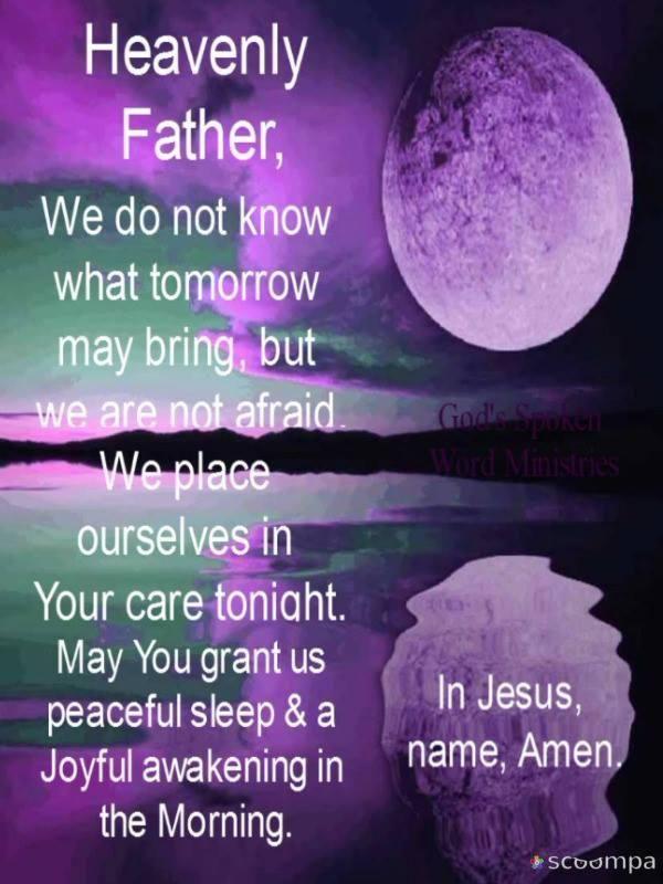 Our Prayer.....   Good night prayer quotes, Good night ...