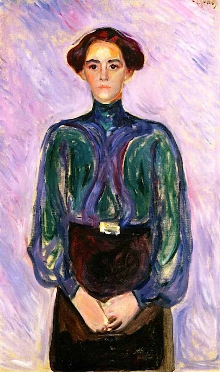 """Portrait of Mrs. Schwartz"" by Edvard Munch,1906."