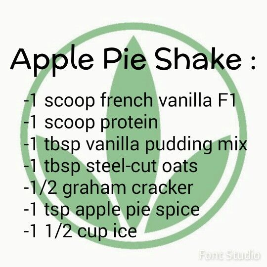 Apple pie Herbalife shake