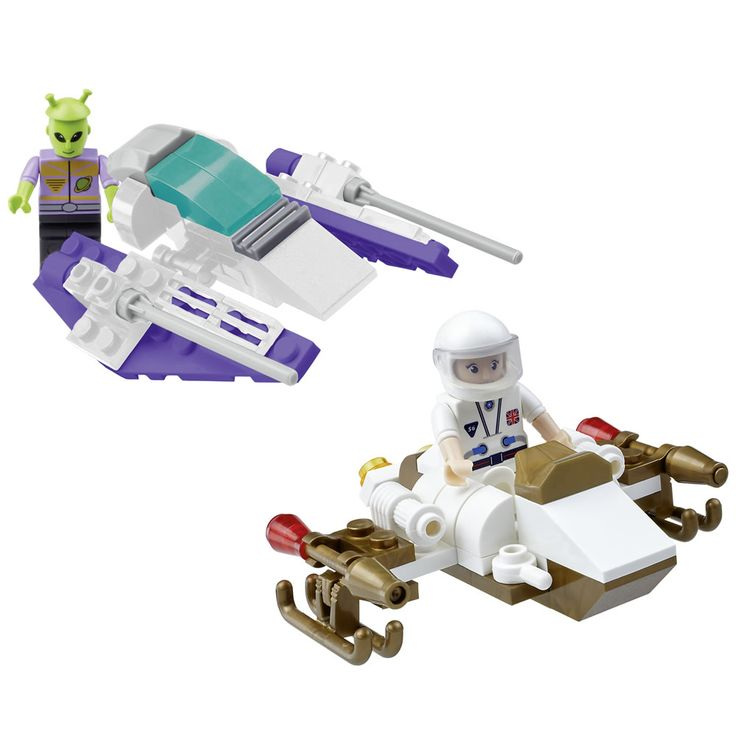 Wilko Blox Spaceship Starter Set Assorted