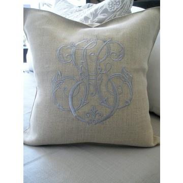 monogrammed pillow.