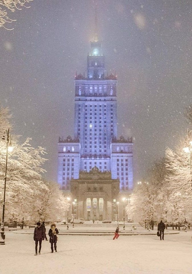 """""""The Palace of Culture and Science"""" #Warsaw Poland (Winter 2016) How Beautiful!"""