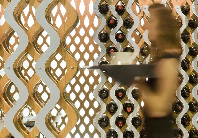 Circa Restaurant - wine racks detail by 3six0Architecture, via Flickr