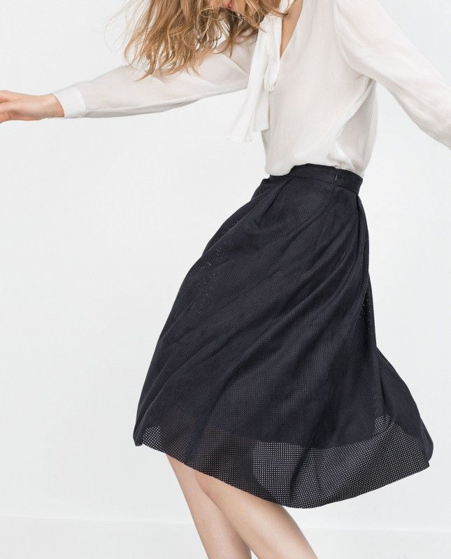 This pleated midi skirt works great for your 9-to-5.