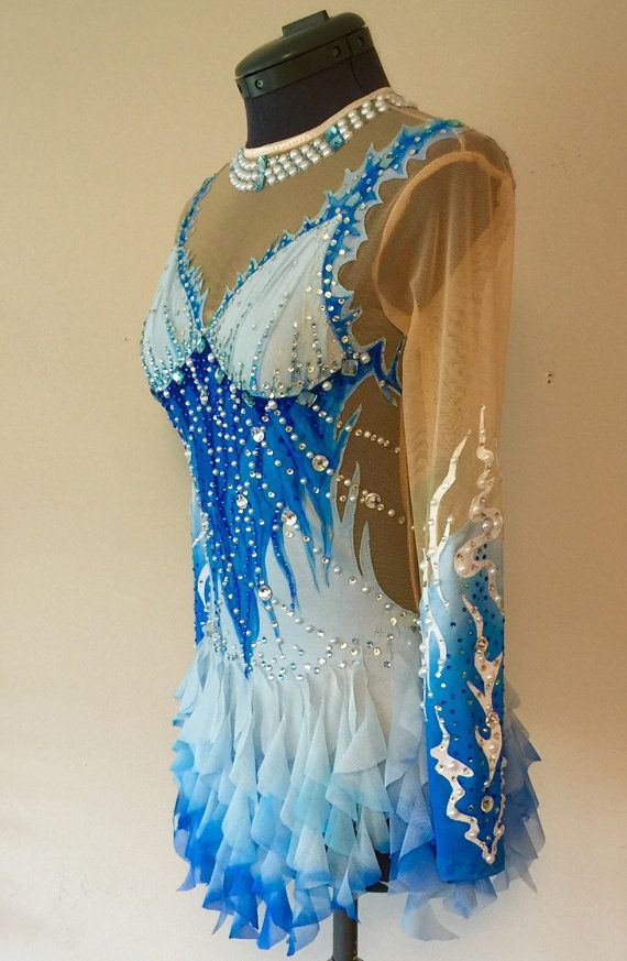 Rhythmic Gymnastics Competition Costume SOLD от Savalia на Etsy