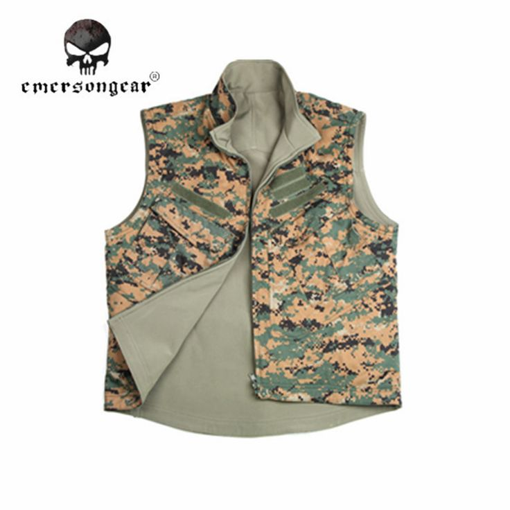 Emerson Tactical Double-sided Camo Vest Men Shooting Hunting Vest Clothing Sport Camping Fishing Camouflage Wear EM6916