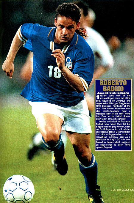 Roberto Baggio played for Italy in 56 matches, scoring 27 goals, and is the…