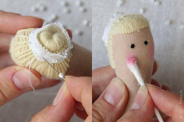 Adoro artesanato: Cabelo de boneca bailarina Tilda