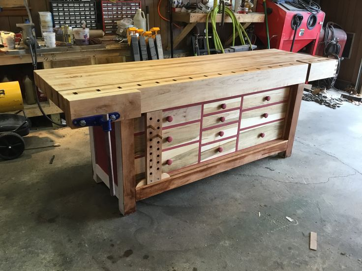 Shaker Workbench 4 Inch Top Homemade End Vise All Work