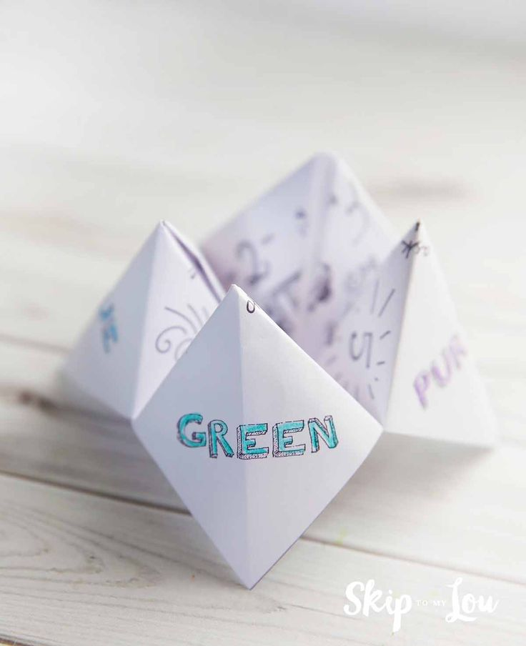 how to make a fortune teller with rectangle paper