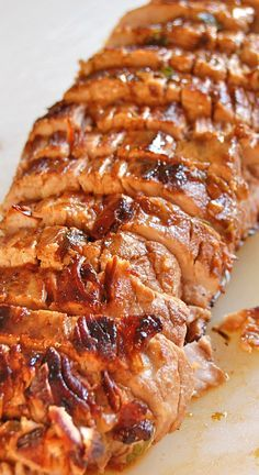 Pork Tenderloin with Pan Sauce ~ The absolute best pork ever... It's pretty foolproof and sure to be a hit with all ~ The sauce is amazing!