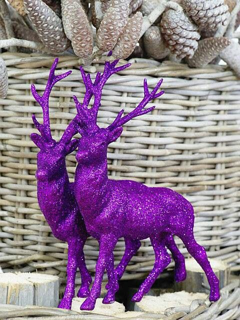 Find something not so nice looking, paint it and glitter it for Christmas!!